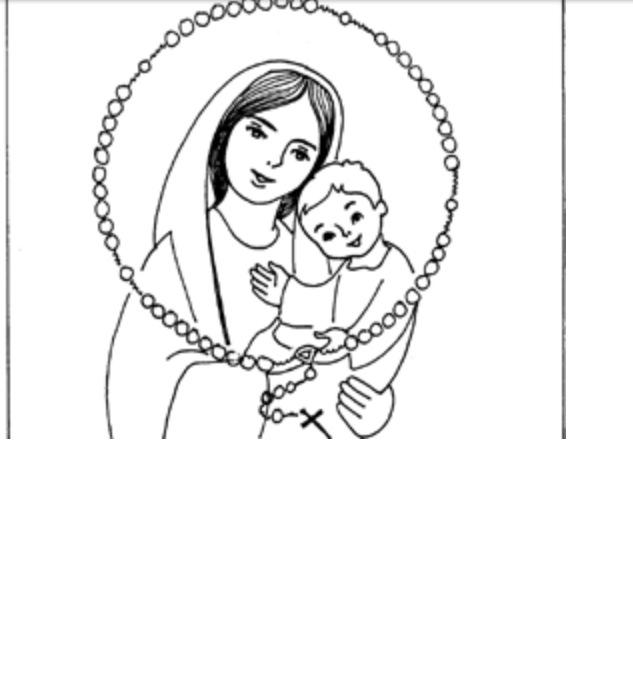 Página para colorear - Tomado de Infancia Misionera